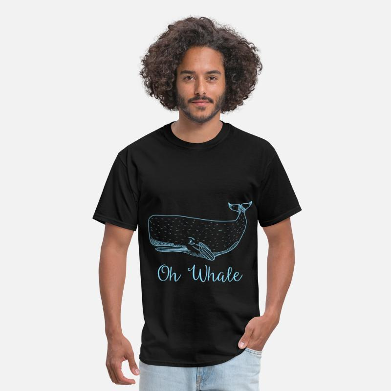 Animals T-Shirts - Whale - Oh Whale - Men's T-Shirt black
