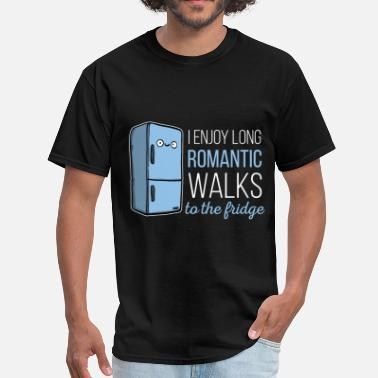 409002a3b3 Fridge -I enjoy long romantic walks. To the fridge - Men'. Men's T-Shirt