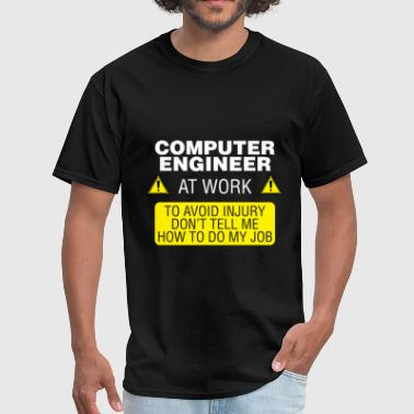 Computer engineer - Computer engineer at work. To  - Men's T-Shirt