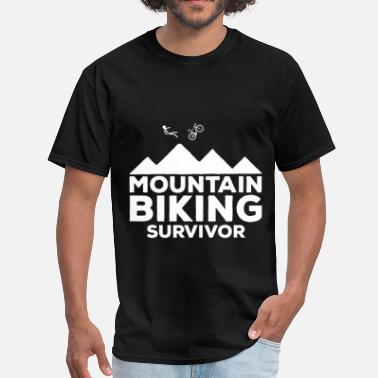 Bike Mountain Bike Mountain biking - Mountain biking survivor - Men's T-Shirt