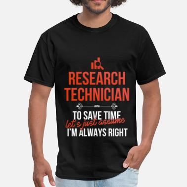 Researcher Apparel Research technician - Research technician. To save - Men's T-Shirt