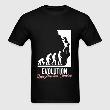 Rock climbing - Evolution. Rock mountain climbing - Men's T-Shirt