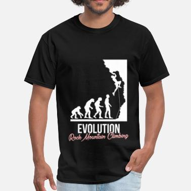 Rock Climbing Evolution Rock climbing - Evolution. Rock mountain climbing - Men's T-Shirt