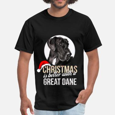 Dane Great dane - Christmas is better with a Great Dane - Men's T-Shirt
