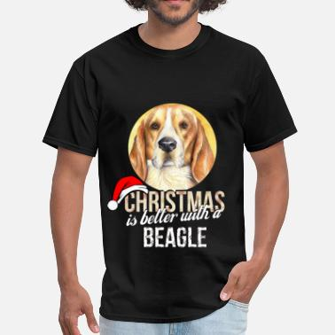 Beagle Clothing Beagle - Christmas is better with a Beagle - Men's T-Shirt