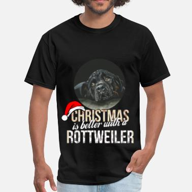 Rottweiler Clothes Rottweiler - Christmas is better with a Rottweiler - Men's T-Shirt