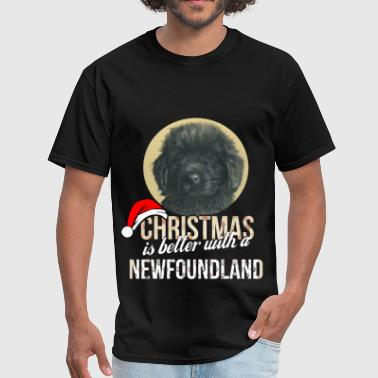 Newfoundland Apparel Newfoundland - Christmas is better with a Newfound - Men's T-Shirt