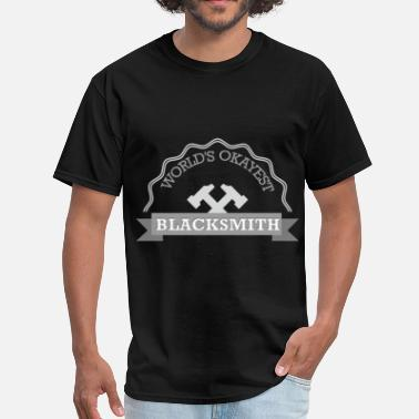 Blacksmith Apparel Blacksmith - World's okayest blacksmith - Men's T-Shirt