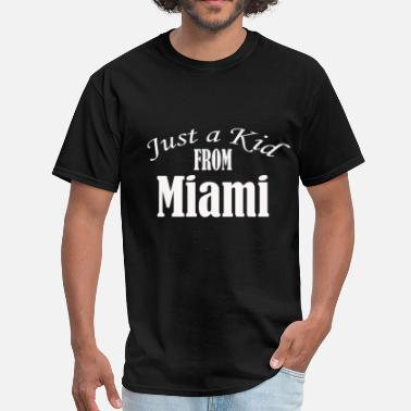 Kids Miami Just a Kid from Miami - Men's T-Shirt