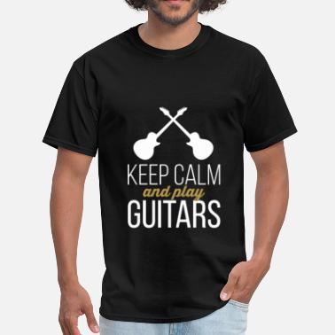 Guitar Clothes Guitars - Keep calm and play guitars - Men's T-Shirt