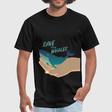 Whales - Save the whales - Men's T-Shirt