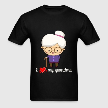Grandma - I love my grandma - Men's T-Shirt
