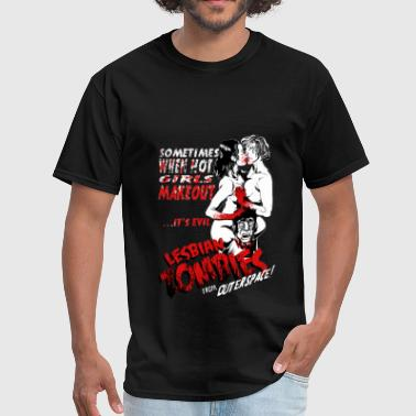 Lesbian Zombie from Outer Space - Bloody - Men's T-Shirt