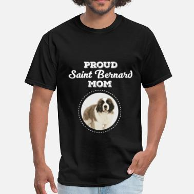 Saint Bernard Mom Saint Bernard Mom - Proud Saint Bernard Mom - Men's T-Shirt