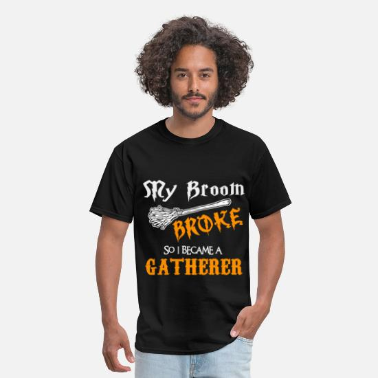 Funny T-Shirts - Gatherer - Men's T-Shirt black
