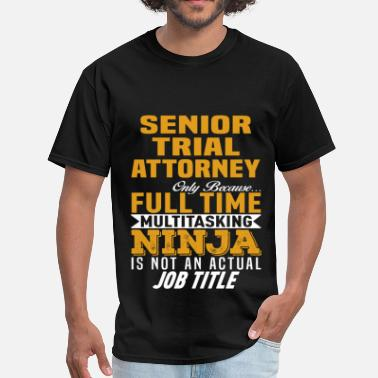 Time Trial Senior Trial Attorney - Men's T-Shirt