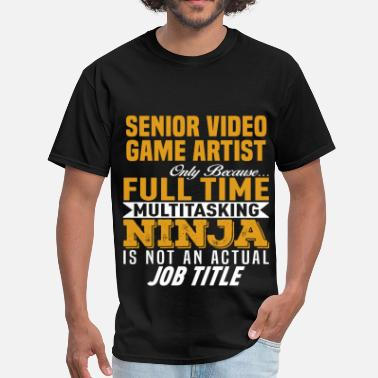 Funny Video Game Apparel Senior Video Game Artist - Men's T-Shirt