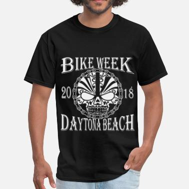 Daytona Bike Week Daytona Bike Week Tribal Skull 2018 ©WhiteTigerLLC - Men's T-Shirt