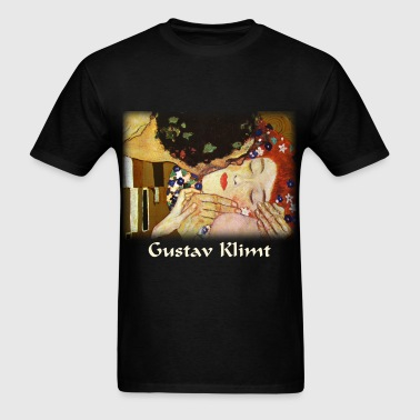 gustav_klimt__the_kiss_blk - Men's T-Shirt