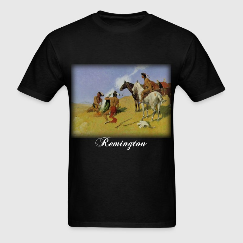 frederic_remington__smoke_blk - Men's T-Shirt