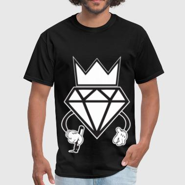 diamond crown graffiti - Men's T-Shirt