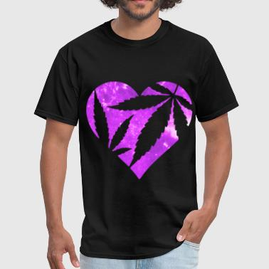 Marijuana Heart - Men's T-Shirt