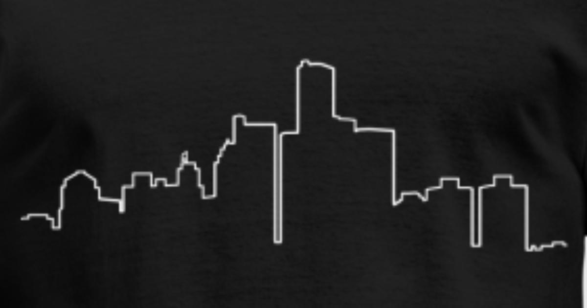 Detroit Skyline Outline By Pirate Rat Spreadshirt