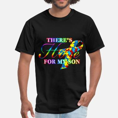 Bold Autism Awareness There's Hope For My Son - Men's T-Shirt
