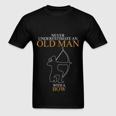 Never Underestimate An Old Man Bow - Men's T-Shirt