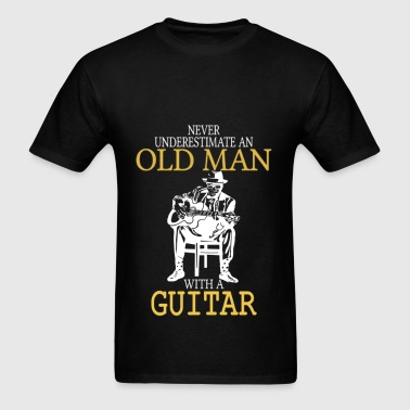 Never Underestimate Old Man With Guitar Degree - Men's T-Shirt