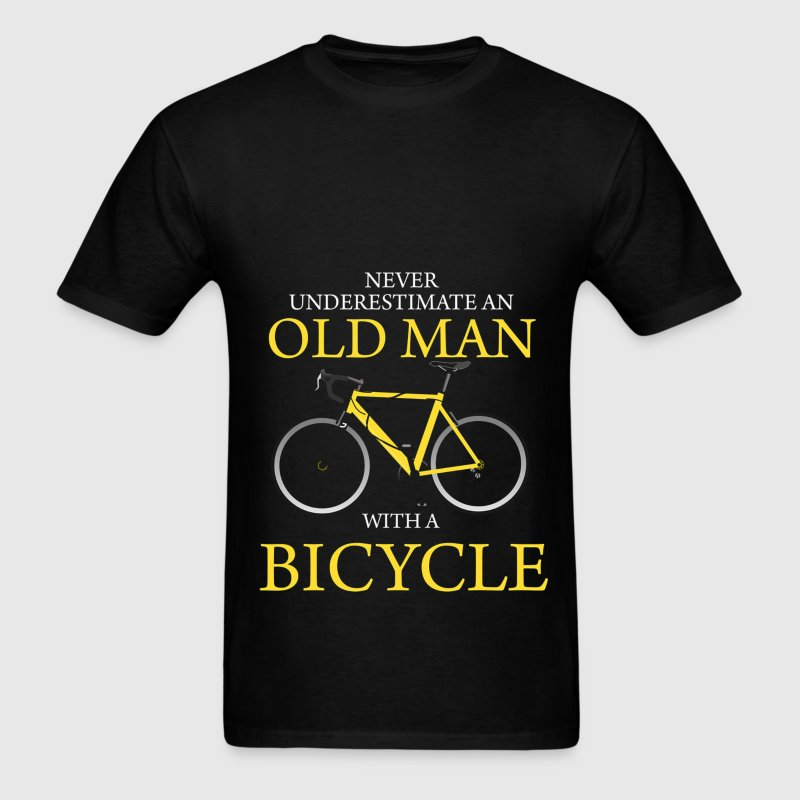 Never Underestimate Old Man With Bicycle - Men's T-Shirt