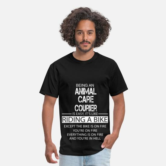 Care T-Shirts - Animal Care Courier - Men's T-Shirt black