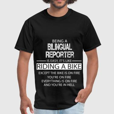 Bilingual Reporter - Men's T-Shirt