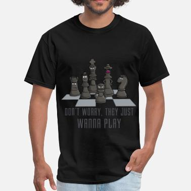 b66d4e86 Chess Club chess_just_wanna_play_122016 - Men's T-Shirt