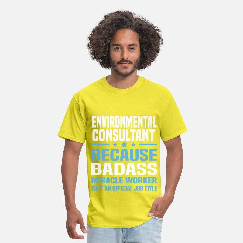 Environmental Consultant Men's T-Shirt - yellow
