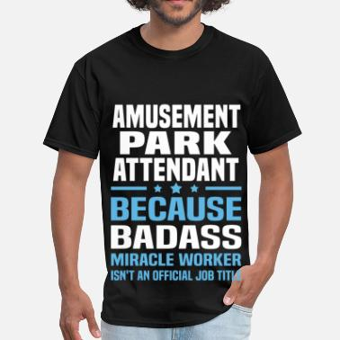 Parking Attendant Funny Amusement Park Attendant - Men's T-Shirt
