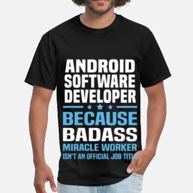 Android Developer Girl Android Software Developer - Men's T-Shirt
