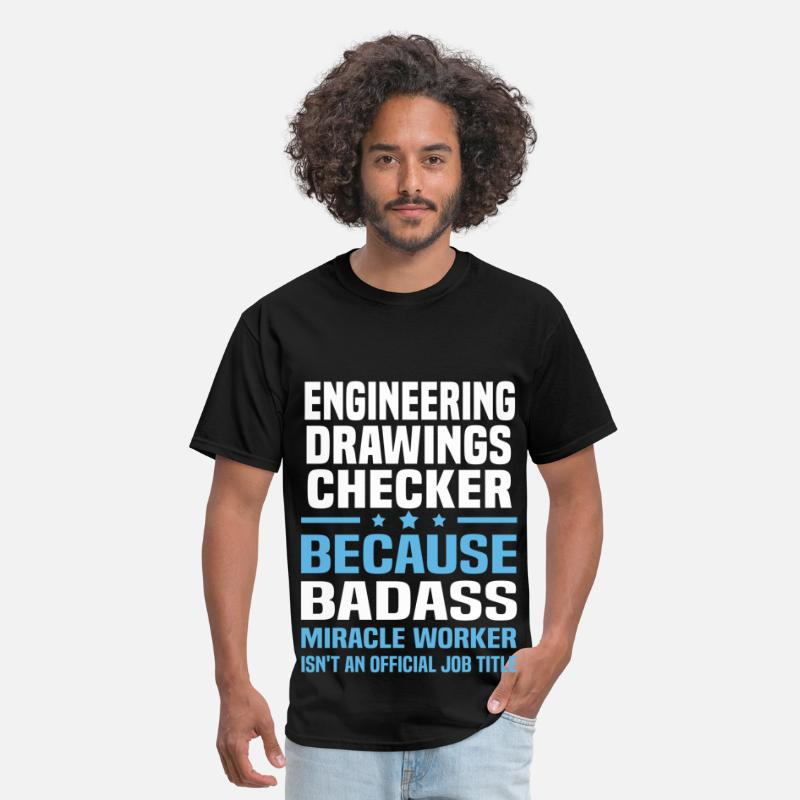 Engineering Drawings Checker T-Shirts - Engineering Drawings Checker - Men's T-Shirt black