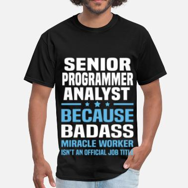 Programmer Mugs & Senior Programmer Analyst - Men's T-Shirt