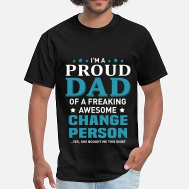 Personalized Papa Change Person - Men's T-Shirt