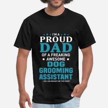 d0c0d76f9 Grandpa Of The Groom Dog Grooming Assistant - Men's T-Shirt
