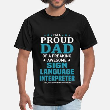 I Love Sign Language Sign Language Interpreter - Men's T-Shirt