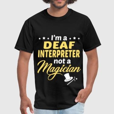 Deaf Awareness Deaf Interpreter - Men's T-Shirt
