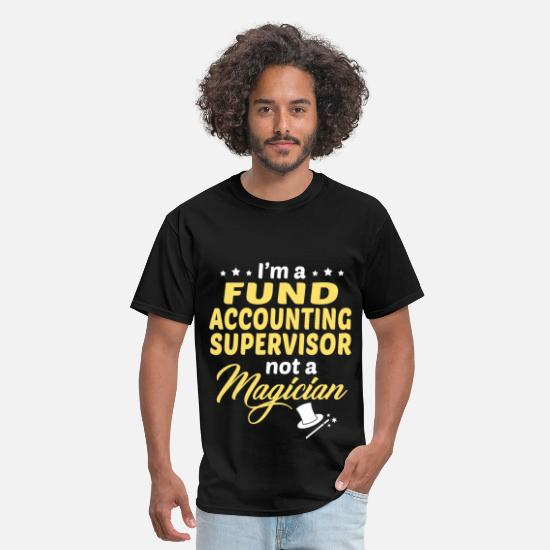 Accountant T-Shirts - Fund Accounting Supervisor - Men's T-Shirt black