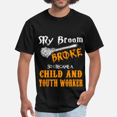 Youth Worker Funny Child and Youth Worker - Men's T-Shirt