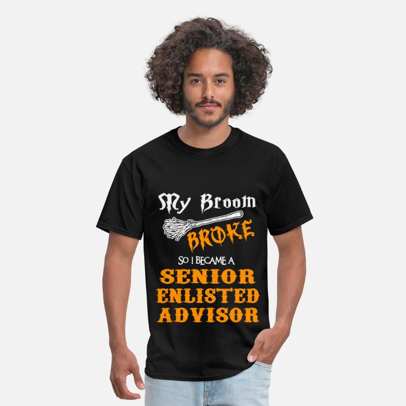 Funny T-Shirts - Senior Enlisted Advisor - Men's T-Shirt black