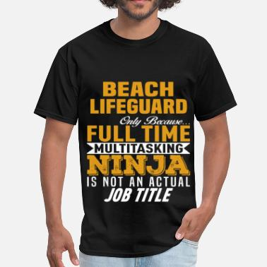 Lifeguard Beach Lifeguard - Men's T-Shirt