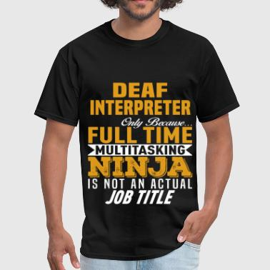 Deafness Deaf Interpreter - Men's T-Shirt