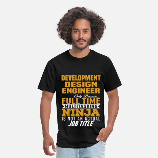 Funny T-Shirts - Development Design Engineer - Men's T-Shirt black