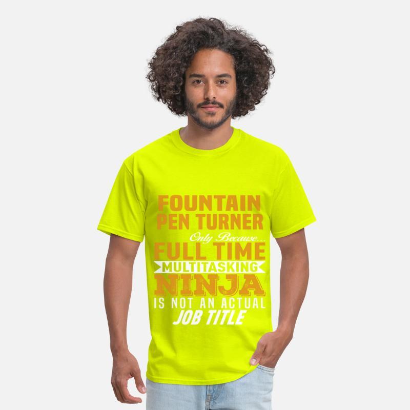 Fountain Pen Turner Men's T-Shirt - safety green